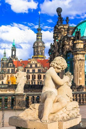 Baroque Dresden, Zwinger museum - landmarks of Germany