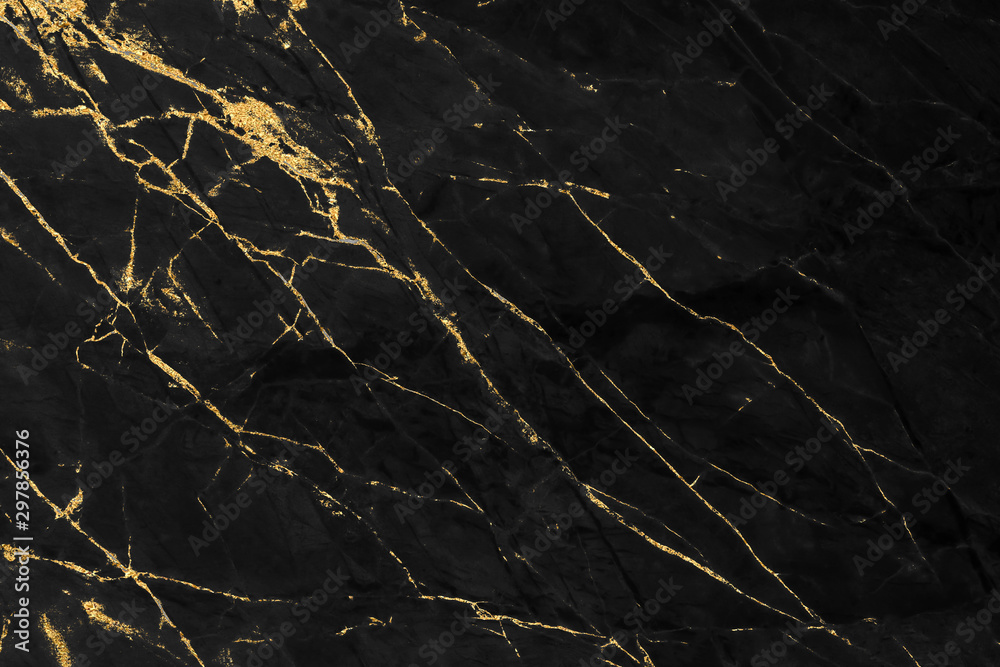 Obraz Black and gold marble texture design for cover book or brochure, poster, wallpaper background or realistic business and design artwork.	 fototapeta, plakat