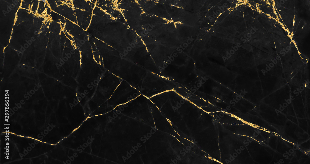Fototapety, obrazy: Black and gold marble texture design for cover book or brochure, poster, wallpaper background or realistic business and design artwork.