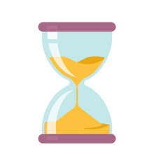 Icon Hourglass Countdown. Flat Vector Illustration Isolate