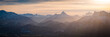 canvas print picture - Berge Winter - Sonnenuntergang Alpen Panorama