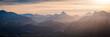 Berge Winter - Sonnenuntergang Alpen Panorama
