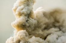 Dense Smoke From A A Big Fire.