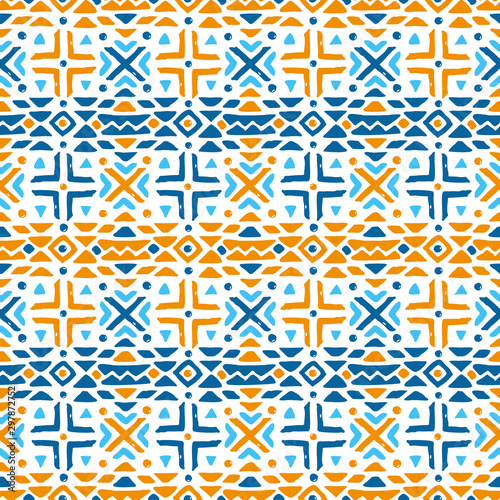 Aztec style seamless geometry pattern with tribal ornament Wallpaper Mural