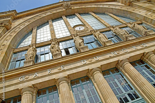 Fotobehang Noord Europa Paris; France - may 1 2019 : the Gare du Nord