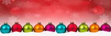 Colorful Christmas Balls Baubl...