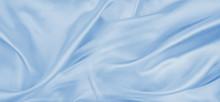 Blue Silky Fabric Texture