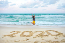 New Year 2020 On The Sand, Hap...