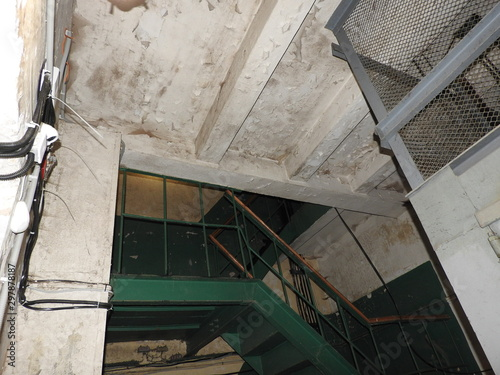 Underground Soviet bunker during the war, details and elements Canvas Print