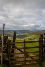 Wooden Fence In The Yorkshire Dales