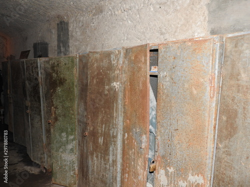 An abandoned prison in an underground bunker Canvas Print