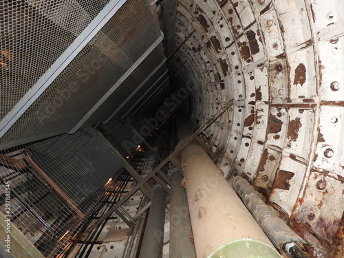 Photo  An abandoned prison in an underground bunker