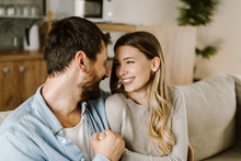 Loving Happy Couple Talking To...