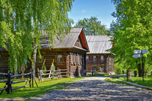 Wooden Huts In Kostroma Settle...