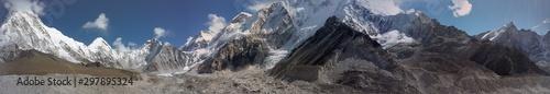 Carta da parati  Paysages en direction du camps de base de l'Everest au Népal
