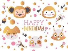 Happy Birthday Vector Illustra...