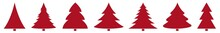 Christmas Tree Red Icon | Fir ...