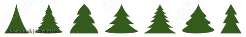 Christmas Tree Green Icon | Fir Tree Illustration | x-mas Symbol | Logo | Isolat Fototapete