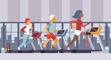 Fitness Gym Vector Illustratio...