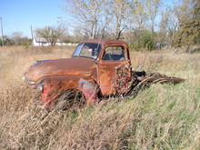 VINTAGE CHEVY TRUCK LEFT SIDE