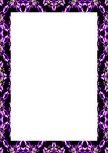 White Frame With Decorated Bor...