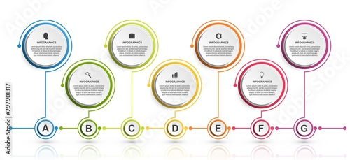 Fotografía  Business options infographics, timeline, design template for business presentations or information banner