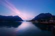riflessi del tramonto