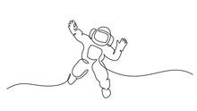 Astronaut Logo One Continuous ...