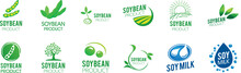 Vector Logo Of Soybean And Agricultural Products