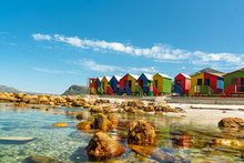 Colorful Cabins On Beach At Mu...