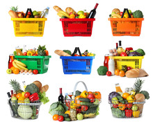 Set Of Shopping Baskets With G...