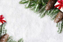 Christmas Background, Green Pi...