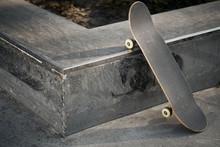 View Of Black Skateboard In Co...