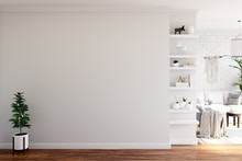 Wall Mock Up In Living Room. S...