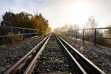 Old Railroad Tracks Leading Th...