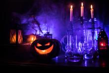 Halloween Still-life Backgroun...
