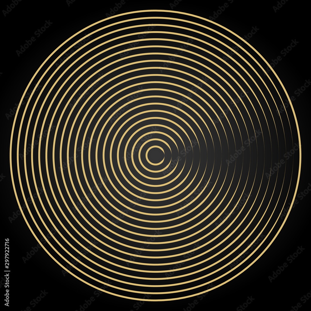 Abstract minimal vector background design. Modern gold circle lines and design template elements for your art, flyers, posters, covers, banners.