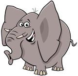 Fototapeta Fototapety na ścianę do pokoju dziecięcego - comic elephant cartoon animal character
