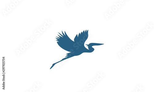 blue heron logo design ideas Fototapeta