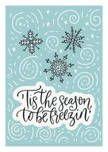 Winter Vector Card. Hand Drawn...