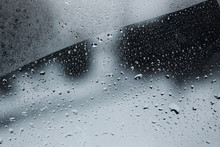 Close-up Of Drops On A Foggy W...