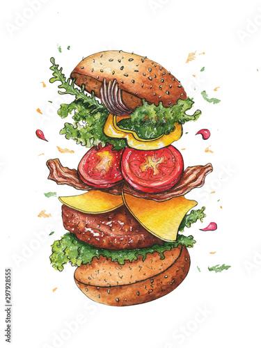 szkic-rysunek-latajacego-burgera