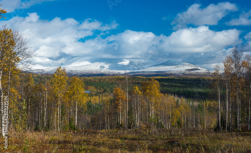 Late autumn in the Arctic . Canvas Print