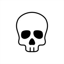 Skull Icon Isolated On White B...