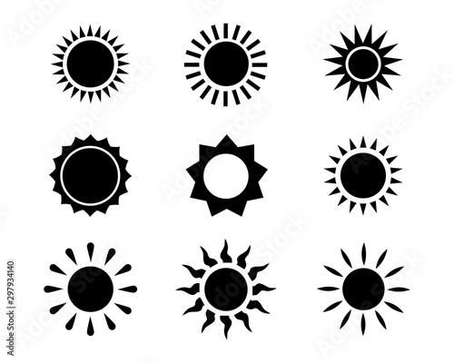 Fotomural  Sun icon