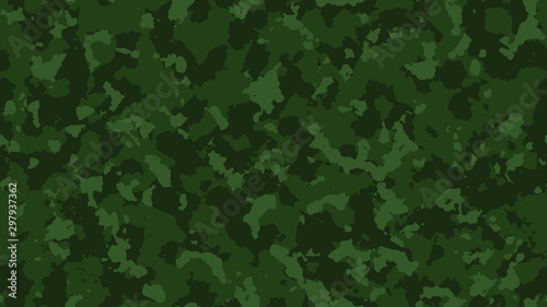 Fotomural  Camouflage pattern background. Green colors