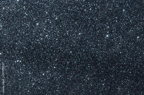 Fotografia  Dark blue lue glitter texture