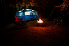 Tent Camping In Florida Night ...