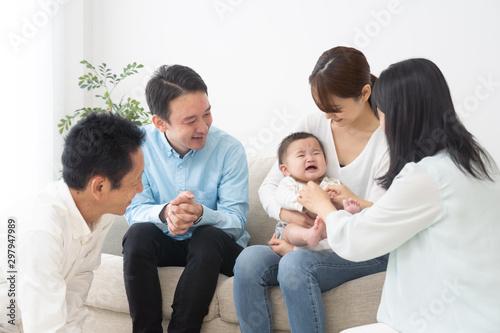 Fototapeta 家族 育児 子育て obraz na płótnie