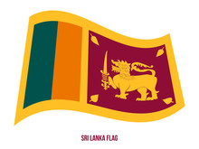 Sri Lanka Flag Waving Vector I...